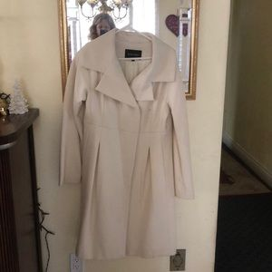 Gorgeous Winter White Coat with Soft Pleating